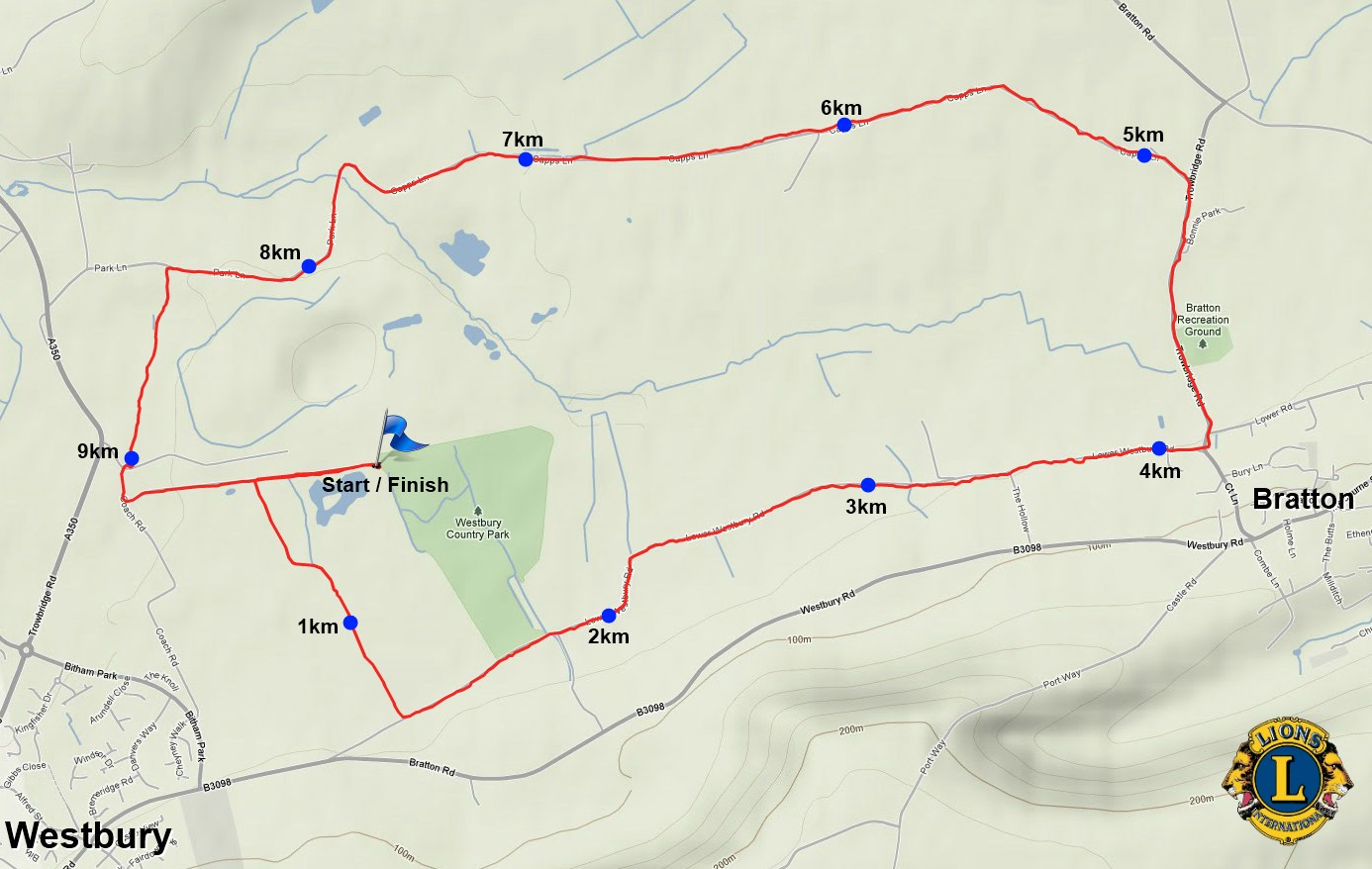 2012 10k Route