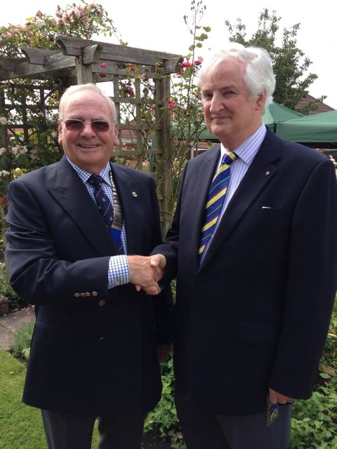 Lion President David Firth and Former President Peter Baker