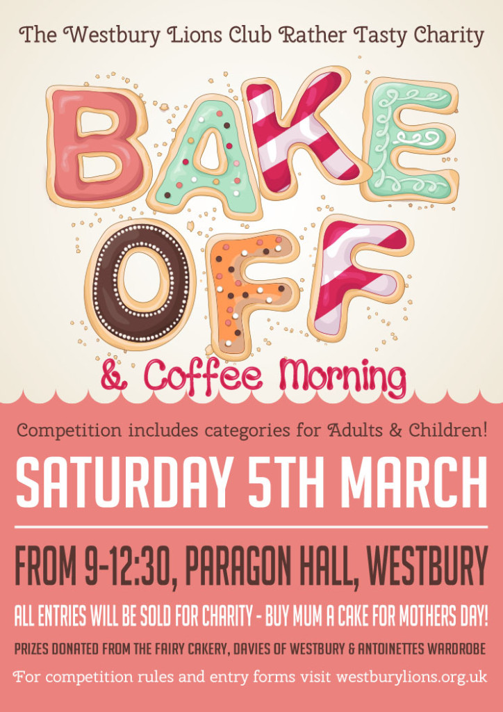 Westbury Lions Charity Bake Off 5th March 2016